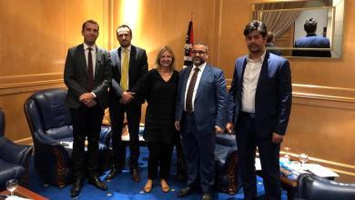 """لقاء خالد المشري بالسفيرة الفرنسية الجديدة لدى ليبيا """"بياترس دو هيلن"""""""