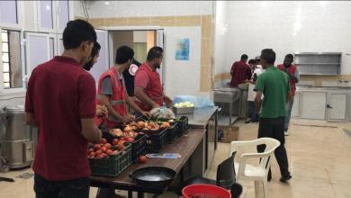 استقبال لجنة الأزمة بفرع الهلال الأحمر الليبي أهالي طرابلس - الزاوية