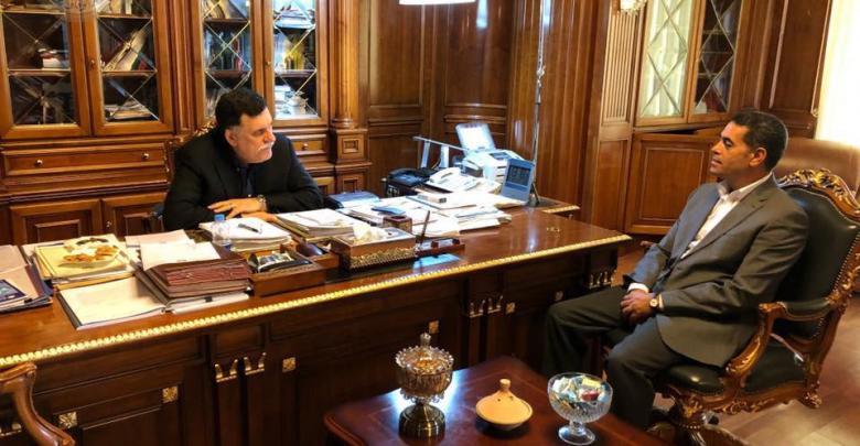 اجتماع فائز السراج وعماد السائح - المجلس الرئاسي طرابلس