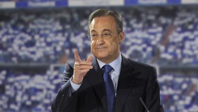 رئيس نادي ريال مدريد فلورنتينو بيريث