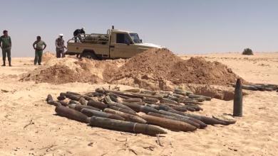 """الهندسة العسكرية أجدابيا تعدم مُخلفات """"داعش"""""""