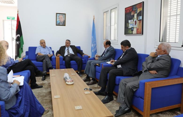 غسان سلامة ووفد من بلدية مصراتة - طرابلس