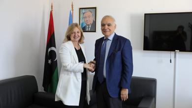 Photo of سلامة يُطلع السفيرة الفرنسية على أوضاع ليبيا