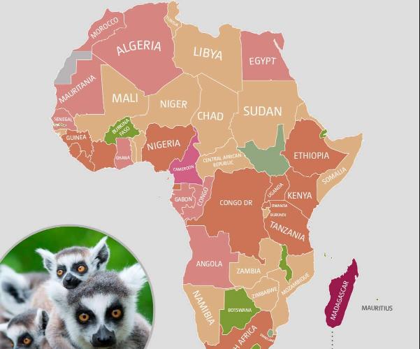 خريطة قارة أفريقيا