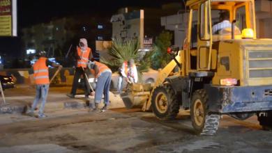 حملة لكنس شوارع أجدابيا وتنظيفها