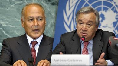 أنطونيو غوتيريس وأحمد أبو الغيط
