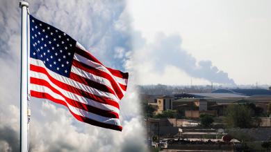 اشتباكات طرابلس - علم أميركا