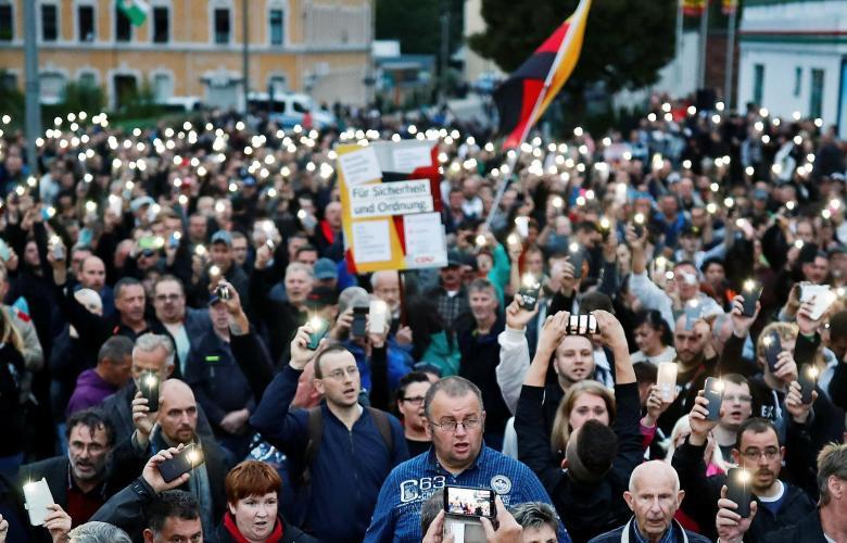 مظاهرات عدة في مدن الألمانية من أجل التصدي للمُهاجرين القادمين
