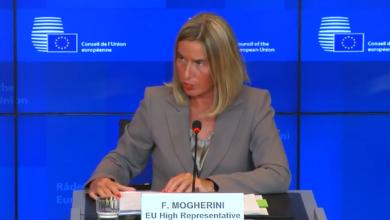 الممثلة العليا للسياسة الخارجية الأوروبية فيديركا موغيريني