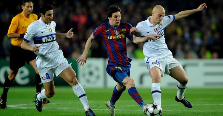 برشلونة والإنتر 2010