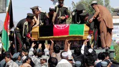تشييع ضحايا هجوم قندهار - أفغانستان
