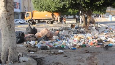 تكدس القمامة في طرابلس
