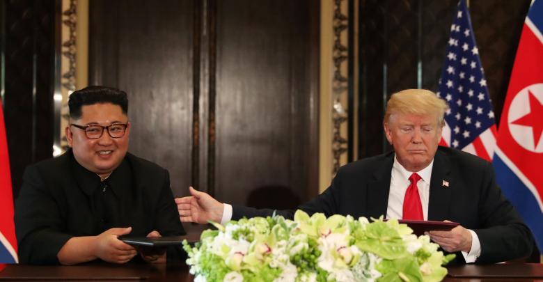 دونالد ترامب و كيم جونغ أون - صورة أرشيفية