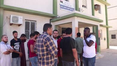 وقفة احتجاجية لشباب الحرس البلدي زليتن
