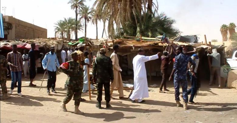 إزلة عشوائيات السوق المحلي في مرزق