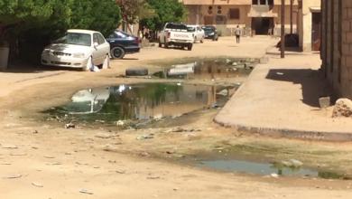 مياه الصرف الصحي تهدد الحياة في مرزق