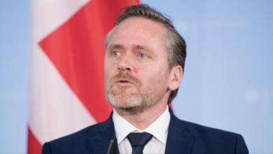 وزير خارجية الدنمارك