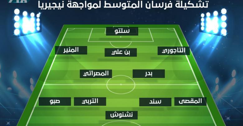 تشكيلة المنتخب الوطني أمام نيجيريا