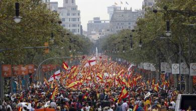 احتجاجات برشلونة في اليوم الوطني