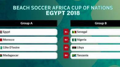قرعة كأس أفريقيا لكرة القدم الشاطئية