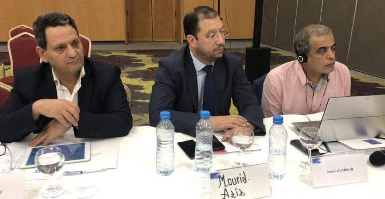 ناجي البغوري - يسار الصورة - الاجتماع الإقليمي في مراكش