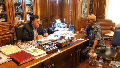 اجتماع فائز السراج وعبد الرحمن الشكشاك - طرابلس