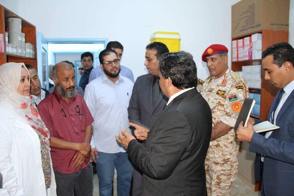 الدكتور سعد عقوب بمدينة درنة