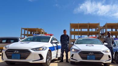 أمن زوارة يتسلم سيارات شرطة جديدة