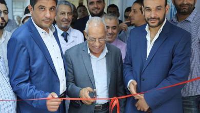 صورة افتتاح قسم العلاج الطبيعي في طرابلس
