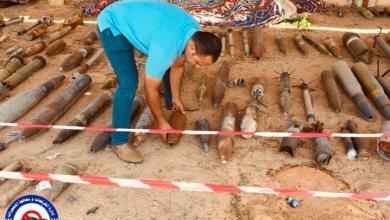هيئة السلامة في تجميع مخلفات معارك طرابلس