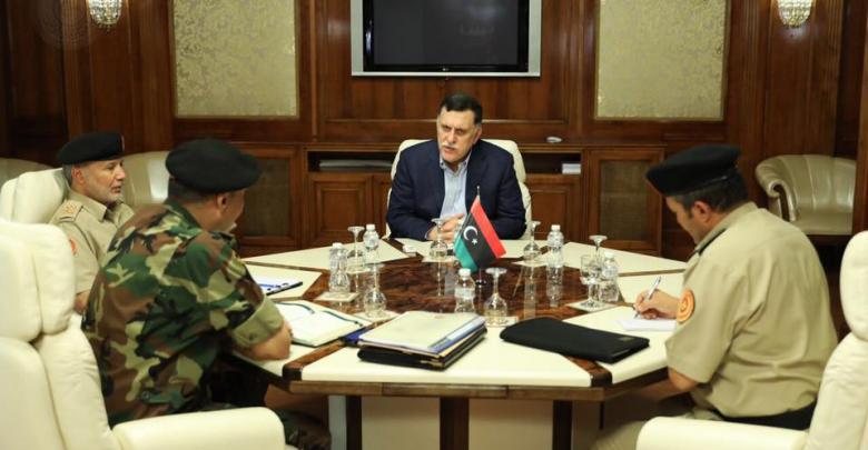 اجتماع فائز السراج واللواء أسامة الجويلي واللواء عبد الباسط مروان واللواء محمد الحداد