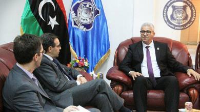 استقبال وزير الداخلية المفوض فتحي باشاغا، للسفير الإسباني بمقر الوزارة في طرابلس