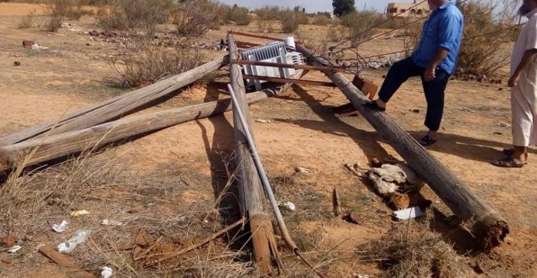 اعتداء يقطع كهرباء قصر بن غشير