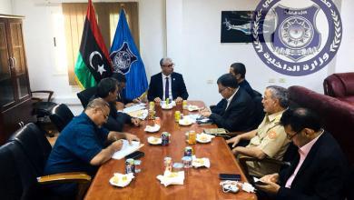 اجتماع وزير الداخلية المفوض فتحي باشاغا