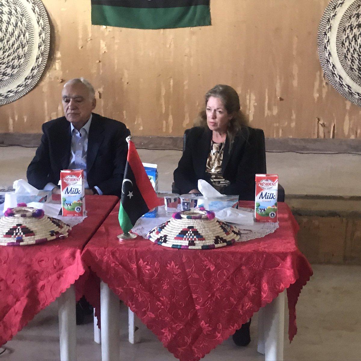 زيارة المبعوث الأممي إلى ليبيا غسان سلامة مدينة تاورغاء