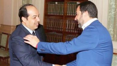 وزير الداخلية الإيطالي ماتيو سالفيني ونائب رئيس المجلس الرئاسي أحمد معيتيق،