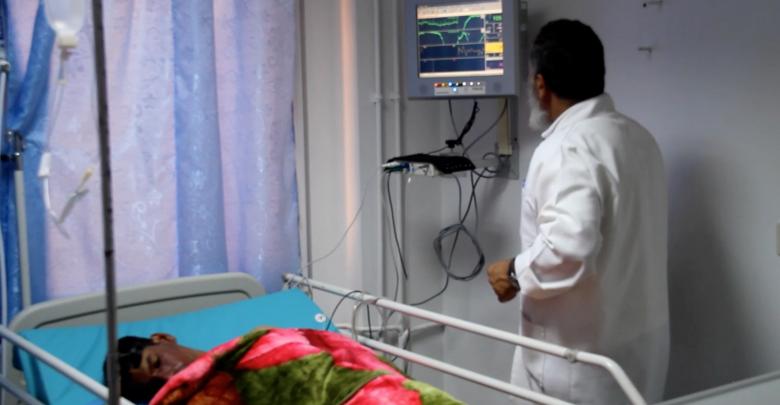 قسم العناية الفائقة في مستشفى ابن سيناء التعليمي بمدينة سرت
