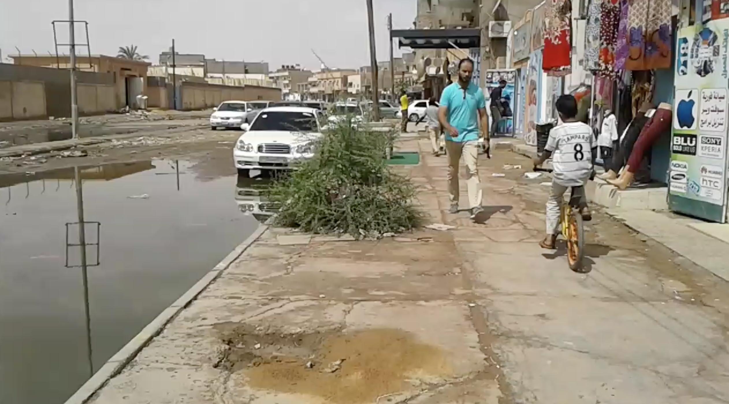 فيضان المجاري بمدينة سبها