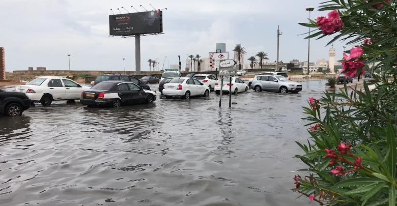غرق الشوارع في ليبيا