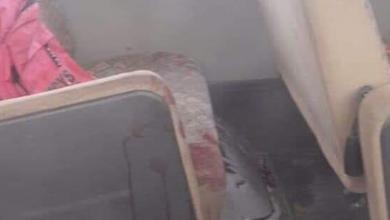 الرصاص اخترق الحافلة أثناء مرورها من مكان المُشاجرة بالقطرون .. وأصاب 3 أطفال