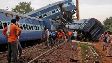 صورة قطار يتسبّب بمصرع قرابة 60 هنديا