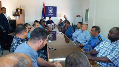 اجتماع رؤساء الأجهزة الأمنية ومسؤولو منافذ مدينة الخمس