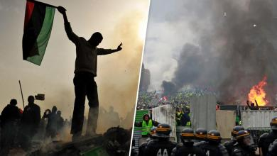 Photo of مظاهرات فرنسا..مقاربة بين باب العزيزية و الإليزيه