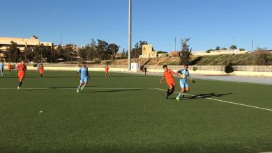 مباراة فريق أواسط شباب الجبل وفريق أواسط الوطن العربي