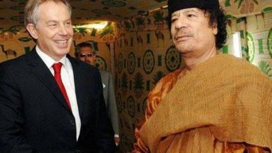 معمر القذافي وتوني بلير