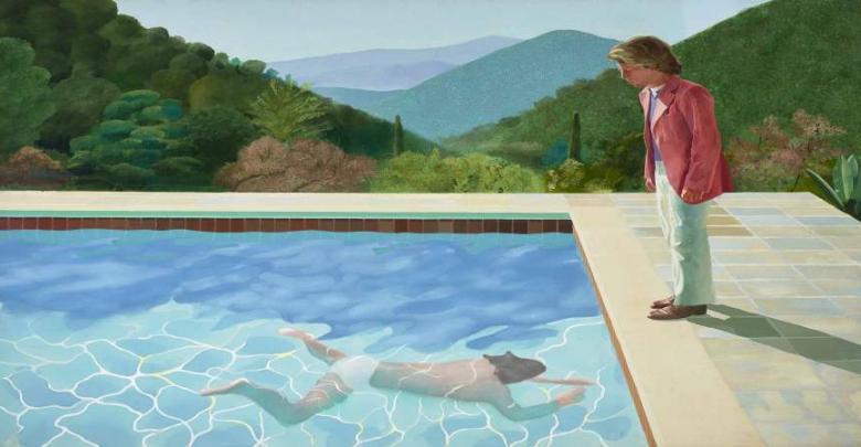"""لوحة فنية للرسام البريطاني """"ديفيد هوكني"""""""