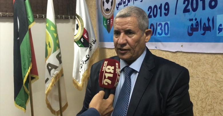 رئيس لجنة المسابقات بالاتحاد الليبي لكرة القدم الهادي السويطي