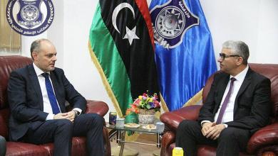سفير بعثة الاتحاد الأوروبي، آلن بوجيا - وزير الداخلية المفوض في حكومة الوفاق فتحي باشاغا