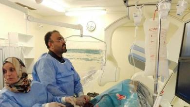 مركز بنغازي الطبي - إجراء أول عملية تركيب دعامة عن طريق شريان الإبهام distal radial