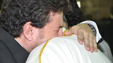 هاني شاكر في عزاء ابنته